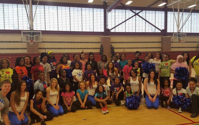 76ers Phlight Squad Visits CSS